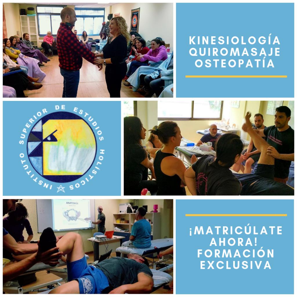 Cursos de formación en kinesiología, quiromasaje y osteopatía